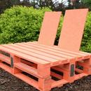 Fotel ogrodowy z palet